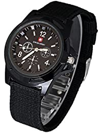 timelyo® Reloj Watch negra deporte Fantasía para hombre Mujer ado Bijou regalo moda Fashion