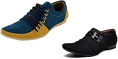 Essence Prefect Combo Pack Of 2 Men's Casual Synthetic Shoes
