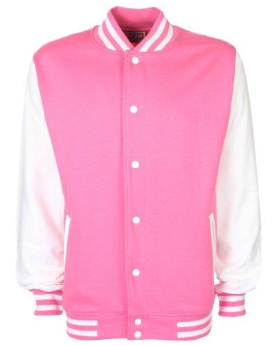 Fdm unisex Varsity Jacket Bubblegum/White