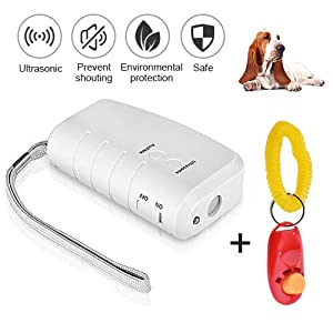 WaVes LED à ultrasons Répulsif pour Chien, 3 en 1 à ultrasons pour Animal Domestique Répulsif Anti aboiement Stop Barking Dog Training Contrôle Répulsif à Trainer