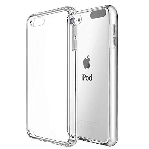 NUPO Hülle für iPod Touch 7 Transparent Soft Silikon Handyhülle Crystal Durchsichtige Schutzhülle TPU Case Cover für Der Neue iPod Touch7 Generation 2019