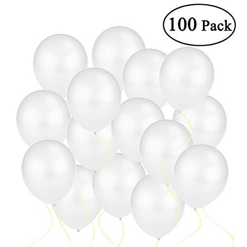 ns Metallic Perlen Weiß Qualitätsballons 30cm [Spielzeug] ()