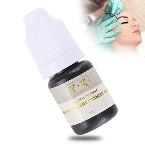 Tattoo Ink für Augenbrauen Microblading Pigmenttinte Semi-Permanent Makeup Augenbrauen Lippen Eye Line Tattoo Farbe (Schwarz)