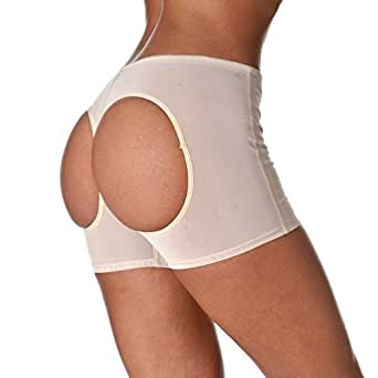 "Moonight Women Control Panty Shapewear Butt Lifter Waist Cincher Magic Boy Short (S fit waist 23""-24"", Apricot1)"