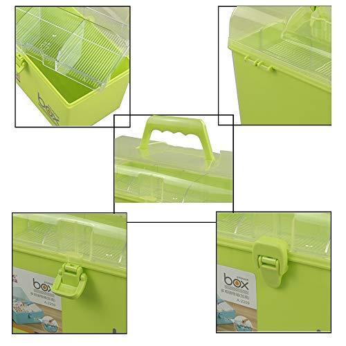 41lb8bKKbuL - Mayish Verde Caja de Medicamentos Caja Maquillaje Botiquín Caja de Almacenamiento de Plástico Botiquin de Primeros Auxilios Caja de Almacenamiento Pequeña con Cerradura, 1 Paquete