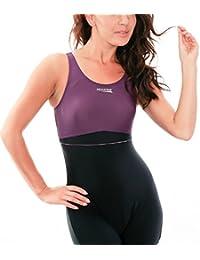 AQUA-SPEED® Maggy bañador de mujer de pata (3 coloures distintos tamaños: 36-44) Negro Schwarz-Violett 19 Talla:38 [DE 36]