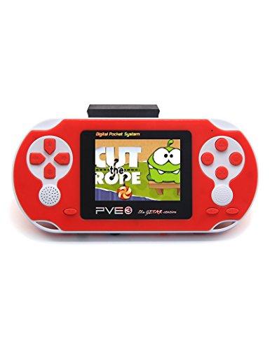 NUEVA 8-16Bit retro de 2,5 pulgadas LCD videojuegos portátiles consola portátil PVP retro PVE FC Games Console (azul) (Red)