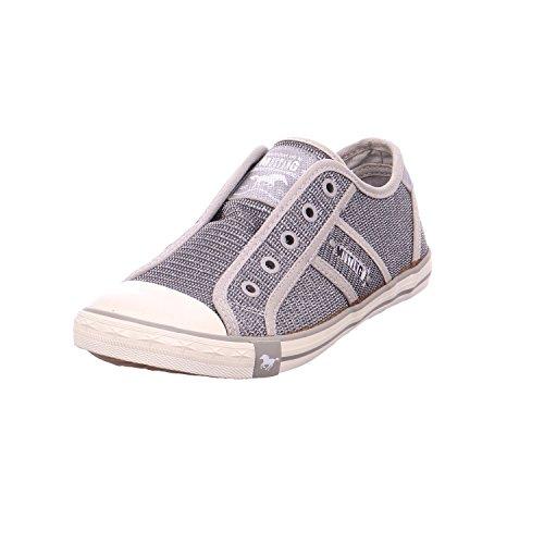 Mustang Damen Sneaker Silber Art.Nr.1099-412-21 Größe 37 bis 42, Damen Größen:41, Farben:Silber