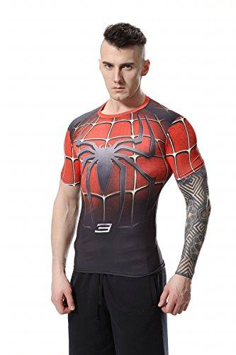 Cody Lundin Movie Theme Superheros Spider eroe esercizio Fitness camicia manica corta sport t-shirt uomo (M)