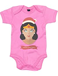 Merch Distributor Movies DC Comics Wonder Woman Style Merry Christmas Parody Baby Grows