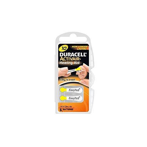 Duracell Activair Hörgerätebatterien 120 Stück Typ 10 (Duracell Hörgeräte-batterien 10)