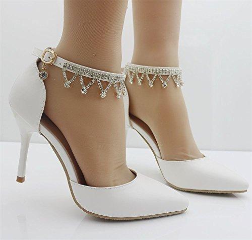 Zapatos de Novia  Primavera Dulce Boda Zapatos Rhinestone Zapatos Tacón  Mujer  Elegante Tacón 897e9ba595db