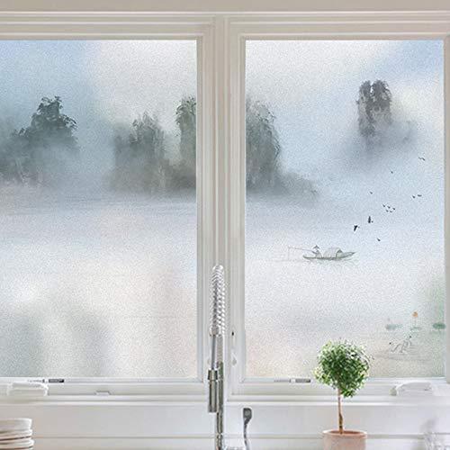 KUNHAN Fensterfolie Landschaftsmaler Mit Elektrostatischer Mattierter Folie Zellophan Bad Küchentür Anti-Diebstahl-Datenschutz Aufkleber Undurchsichtig -
