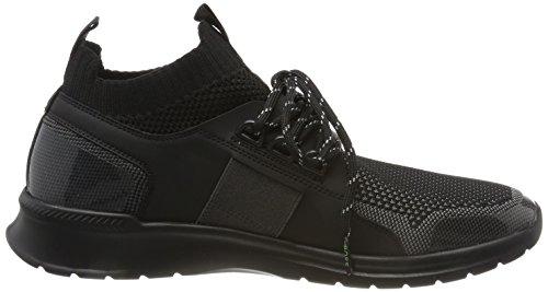 BOSS GREEN Extreme_runn_knit, Sneaker a Collo Alto Uomo Nero (Black)