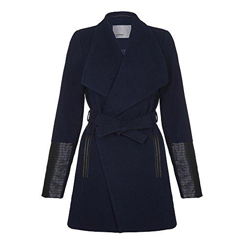 Vero Moda - Vero Moda - Cala Delle donne cappotto di lana d'inverno, Marina Militare, S 38