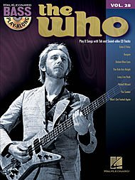Bass Play-Along Volume 28: The Who. Partituras, CD para Guitarra Bajo