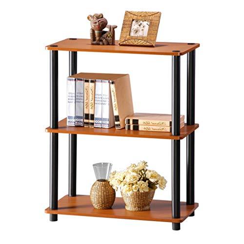 Bücherregal 3-Tier Moderne einfache, Kinder Spielzeug Regale, Organizer Lagerung, dekor Display möbel, für Home Office (kirschholz Farbe) (Möbel Lagerung Bin)