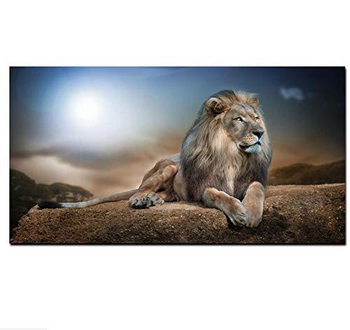 Chaoaihekele Lion King Wild Animal Fabric Poster Y Print Paisaje Pintura Al  Óleo Sobre Lienzo Pop