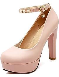 Longfengma - Chaussures Habillées Pour Plastique Noir 1 Uk Femme Noire, Couleur Noire, Taille 40