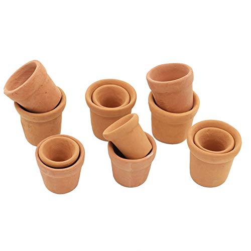Xiton Mini Terrakotta-Pflanzer Lehm Keramik-Keramik Blumentöpfe Mini-Kaktus-Blumentöpfe Kaktus Sukkulenten Nursery-Topf Für Indoor Outdoor Nutzung 12st