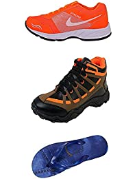 Jabra Perfect Combo Pack Of 2 Shoes- Sneakers And Loafers & Slippers For Men In Various Sizes - B06XVJ7V8H