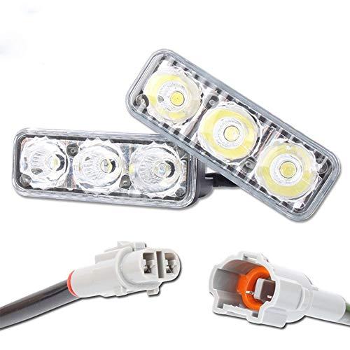 TOOGOO Voiture 3 LED Remonter Le Feu de Brouillard 12V Lumières Tournantes