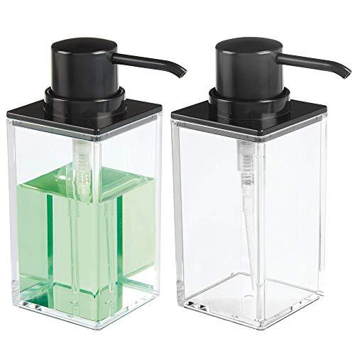 MDesign Juego 2 dosificadores jabón recargables -