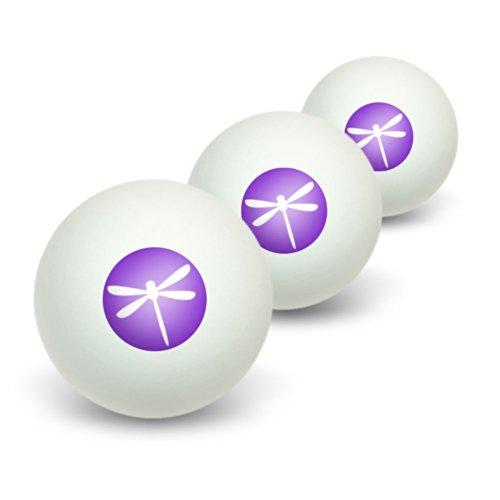 Lila Libelle Glow Neuheit Tisch Tennis Ping Pong Ball 3Pack