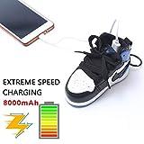 FRUZAZ 8000 mAh Mobile Power Creative Fashion Sports Schuhe Pendant Schmuck Buckle Portable Mobile Smart Phone Mobile Power für iPhone und Android,Blue