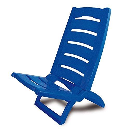 Adriatic 289/ar spiaggina sedia pieghevole in plastica blu