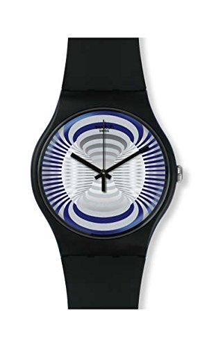 Swatch Reloj Analogico para Hombre de Cuarzo con Correa en Silicona SUON124