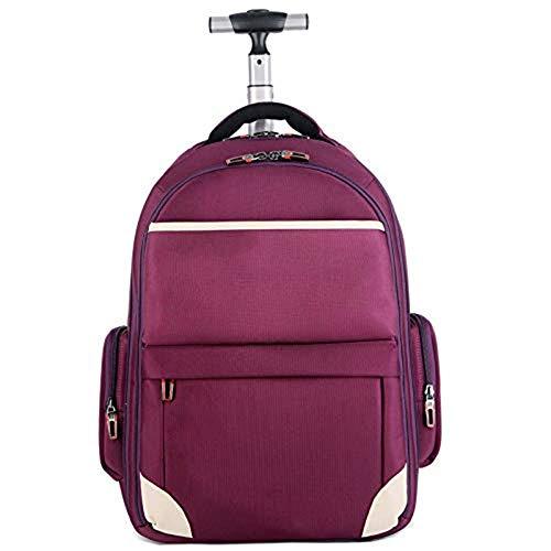 HBHJG Wheeled Roller Trolley Rucksack Geschäftsreisen Wheeled Laptop Tablet Tasche Mädchen und Junge Kind Teen Schulgepäcktasche -