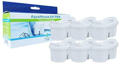 AquaHouse Universal Kannen Wasserfilter Kartuschen Kompatibel mit Brita Maxtra Wasser Filter - Pack von 6 (Kohlenstoff-wasser-filter)