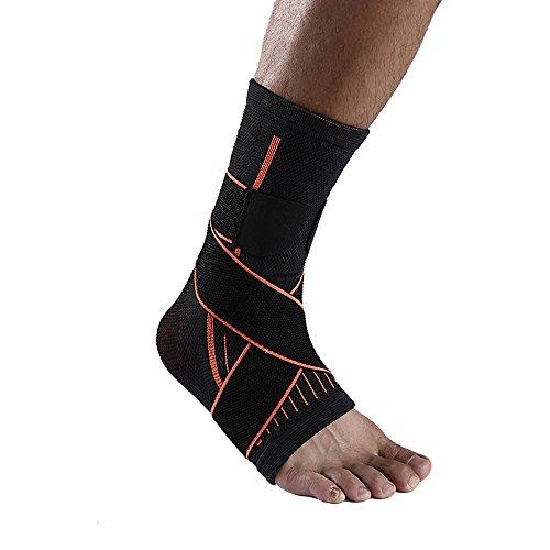 Unterstützung Wrap (Atmungsaktiv Knöchelbandage mit Kompression Wrap Unterstützung für Balance Fragen Fuß Support Bandage One Größe verstellbar)