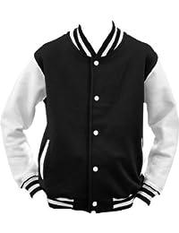 ShirtInstyle College Jacke Jacket Retro Style XL,Schwarz