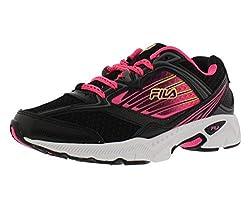 Fila Inspell 4 Womens Running Shoes Size US 7. 5, Regular Width, Color Black/Fuchsia