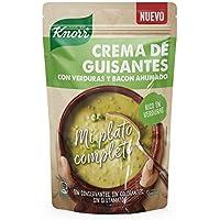 Knorr - Mi Plato Completo Crema de Guisantes con Verduras y Bacon Ahumado, 375 ml