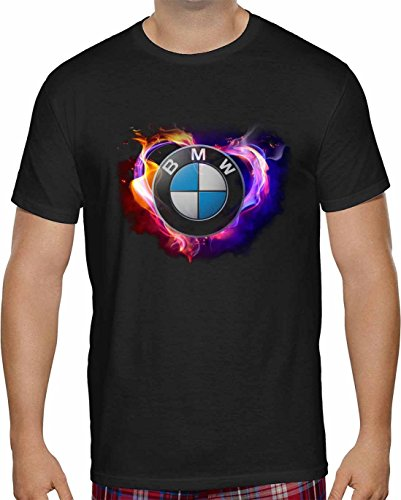 herren-t-shirt-bmw-fire-love-kurzarm-schwarz-2xl-
