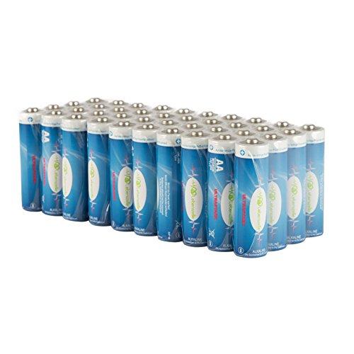 Deluxe AA Batterie Set LEBENSZELLE, 40er Pack hochwertige Alkaline AA-Batterien, extra langlebig & auslaufsicher, XXL Sparpaket Aaa-alkaline-family Pack