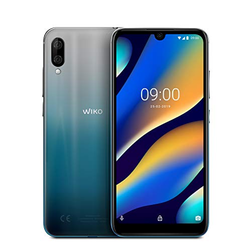 "Wiko View 3 Lite, Silver bleen (6,09"" HD+ Display, 13MP+2MP DUAL Kamera, 4.000mAh Akku, 32GB interner Speicher, 2GB RAM, Octa-Core Prozessor)"