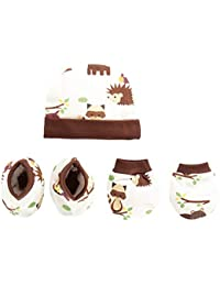 Pebbles Baby 100% Cotton Cap, Mitten (Hand Gloves), Bootie Combo Set for Toddler/Infant/New Born Baby, Age 0 to 12 Months