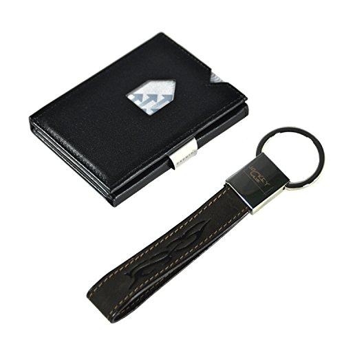 Exentri Porta carte di credito, nero (nero) - EX001B-RFID+JCHaenger