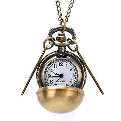 collier montre gousset montre de poche vintage steampunk Harry potter bronze ancienne horloge 44mm engrenage motif estampe victorien