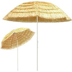 Galapara Parasol de Plage Hawaii | Parasol Jardin | Ø 300 cm | Parasol d'extérieur Parasol pour terrasse, Plage, Jardin, Balcon et Piscine