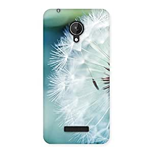 Premium White Floral Back Case Cover for Micromax Canvas Spark Q380