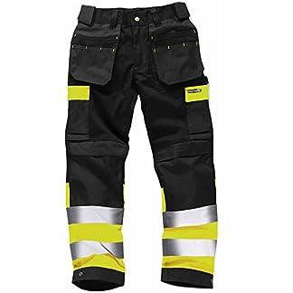 Army And Workwear Pantalones de Trabajo Alta Visibilidad Resistentes Pantalones Laborales con Bolsillos Rodillas Triple Costura Ropa de Trabajo Resistente – Tamaños 71,12 a 116,84cm
