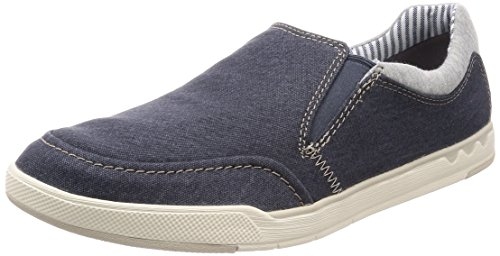 Clarks Herren Step Isle Slip Slipper, Blau (Navy Canvas), 42.5 EU
