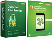 Quick Heal Total Security (2 PC, 1 Year)+Total Security for Android (1 User 1 Year)