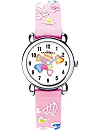 Cannibal Kid's Quartz Watch with White Dial Analogue Display and Pink Resin Strap CK199-14