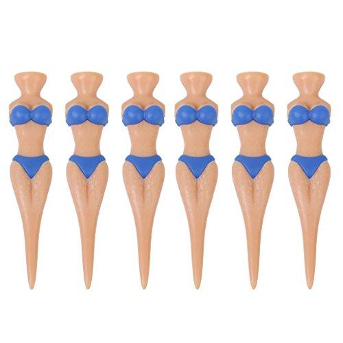 Ensemble de 6pcs Bikini Lady Golf Tees Nouveauté Plaisanterie Cadeau